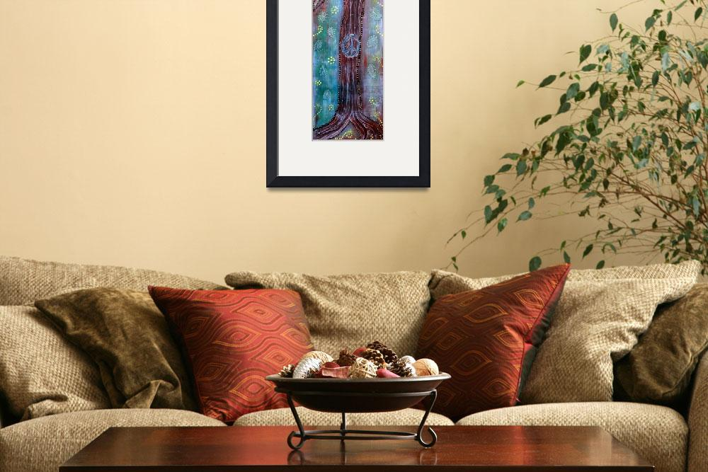 """Bohemian Peace Tree&quot  (2013) by ArtPrints"