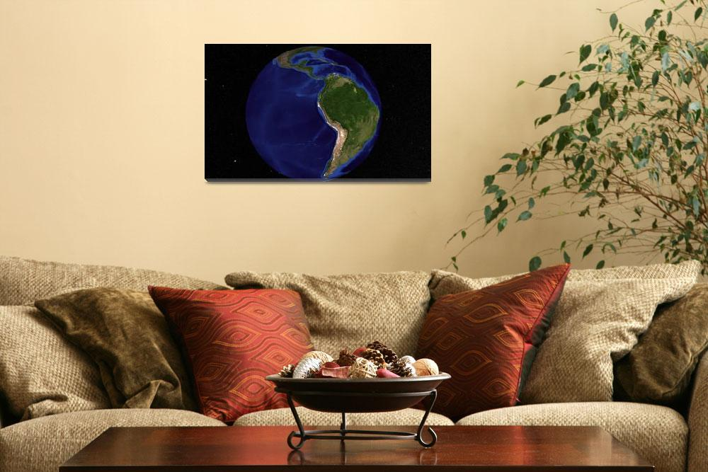 """Earth showing South America""  by stocktrekimages"