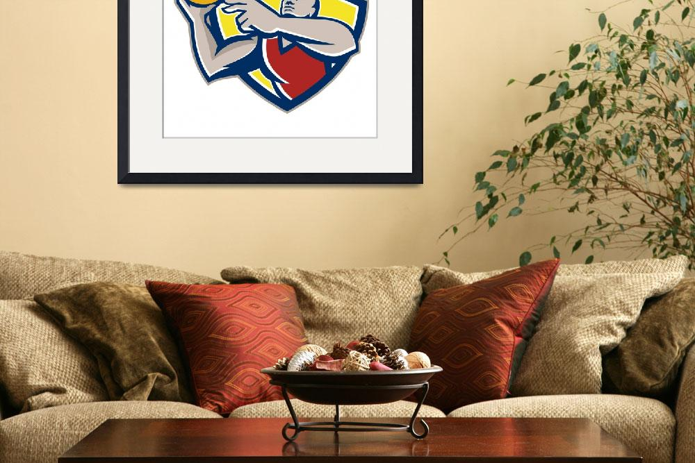"""""""Basketball Player Laying Up Ball Retro&quot  by patrimonio"""