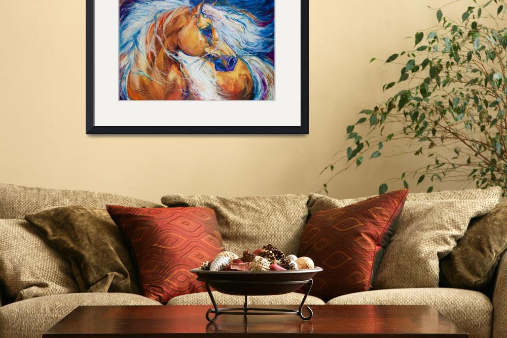 """""""Free Breeze Palomino [SIGNED]&quot  by MBaldwinFineArt2006"""