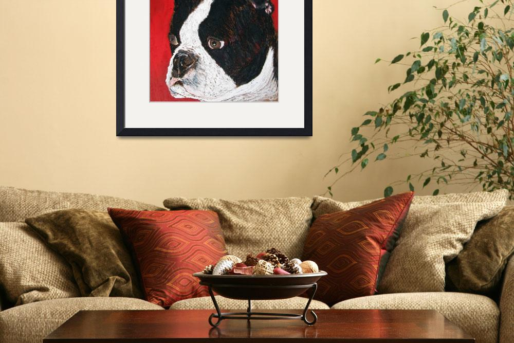 """Boston Terrier&quot  (2008) by Robbi"