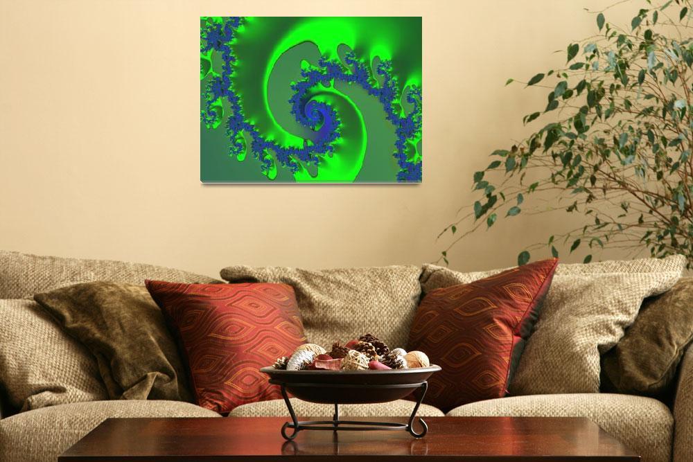 """Green Ice""  (2006) by fractalartvicky"