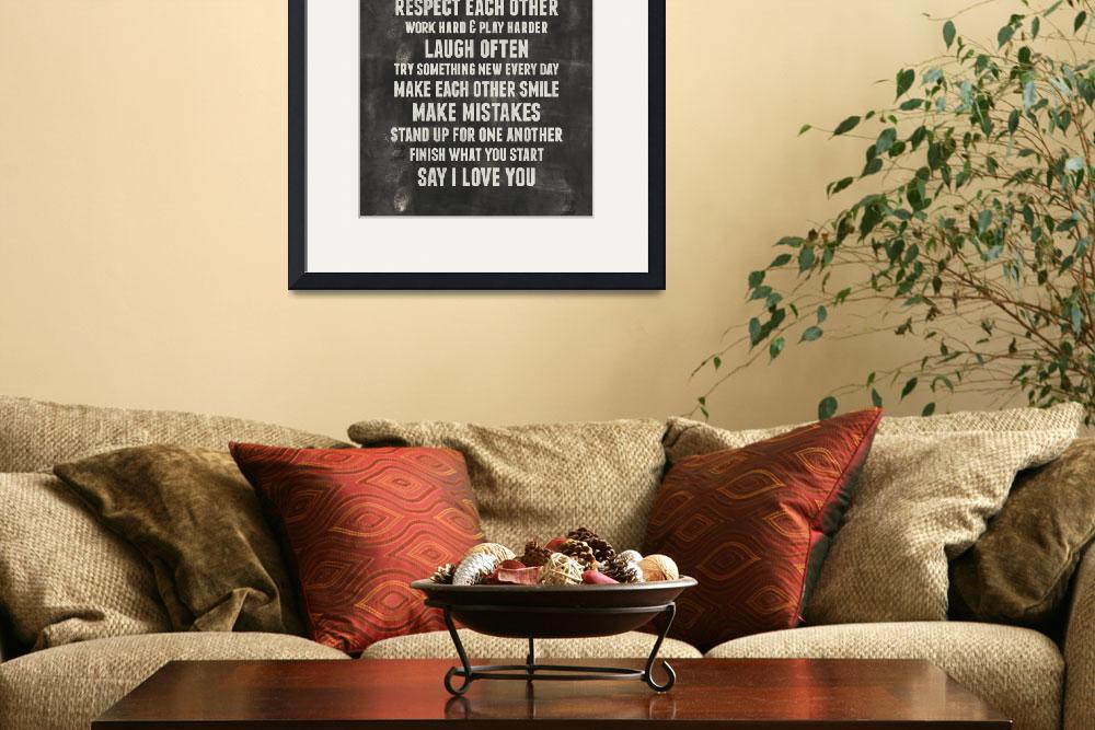 """""""Family Rules Wall Art&quot  by KateLillyson"""