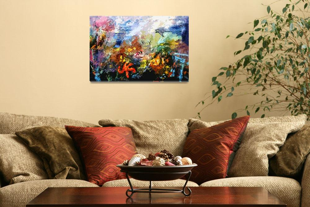 """""""Life in a Coral Reef Original Art by Ginette&quot  (2012) by GinetteCallaway"""