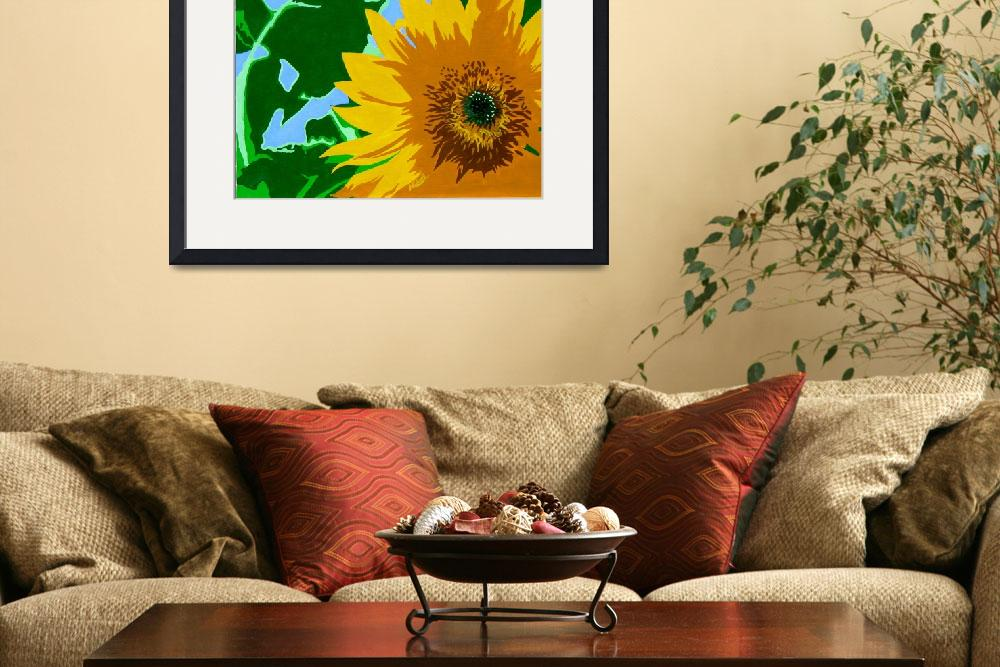 """""Sunflower"" original acrylic painting&quot  (2008) by marnold"