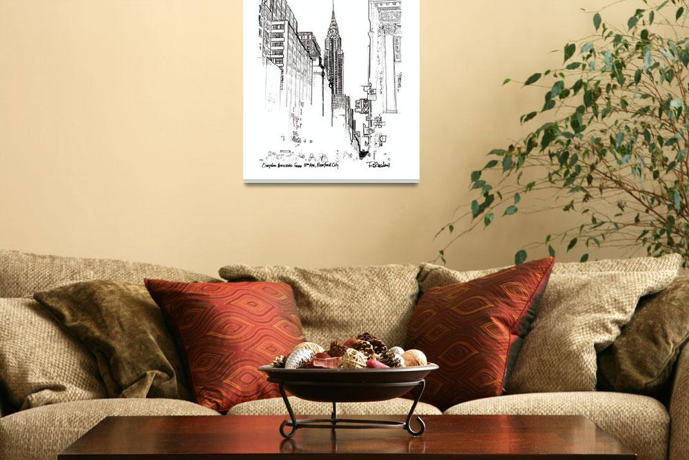 """Chrysler Building From 5th Avenue, New York Art&quot  (2005) by RDRiccoboni"