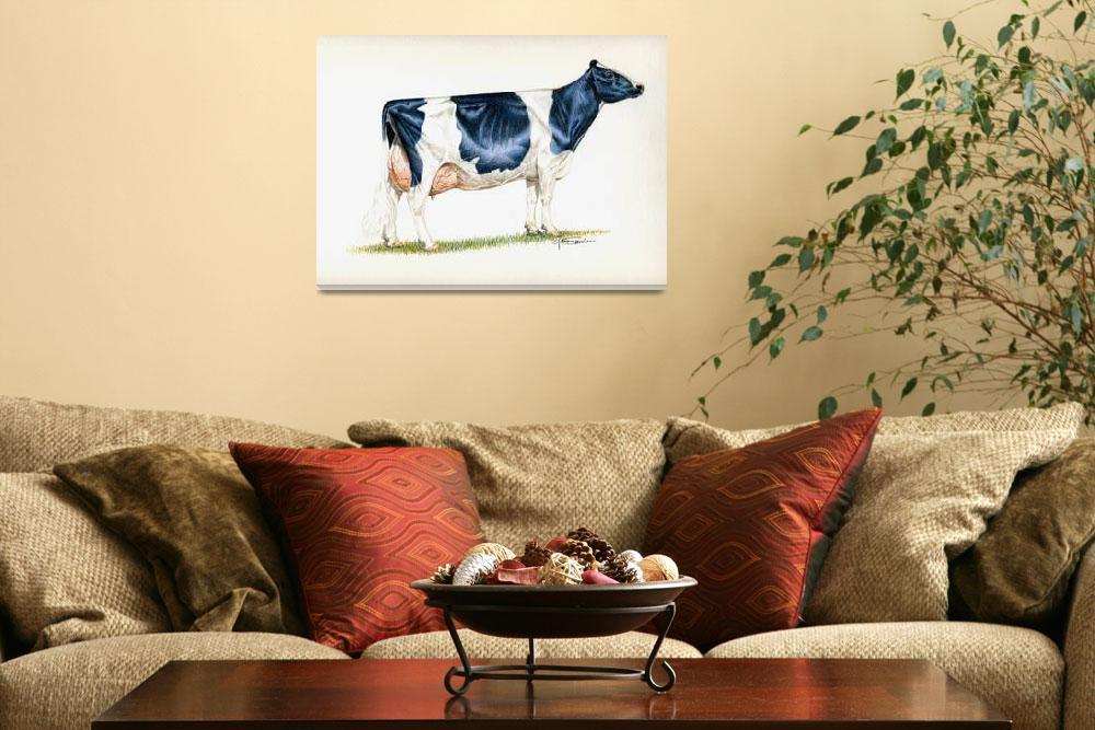 """Ideal Holstein Cow&quot  (2009) by gsauder"