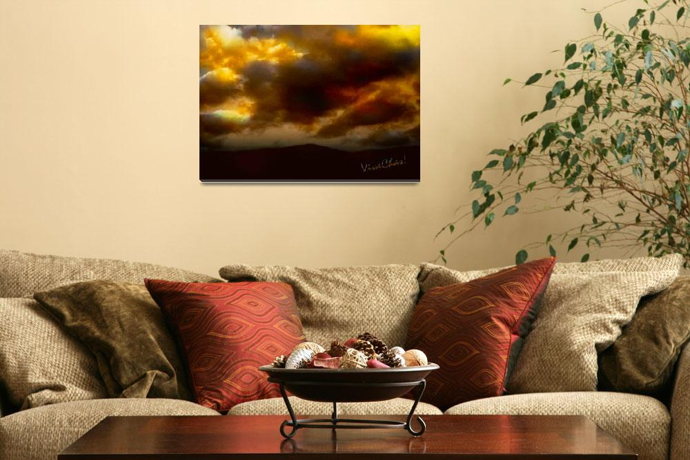 """""""VivaChas Golden Hour Sunset Glowing Clouds""""  (2012) by chassinklier"""
