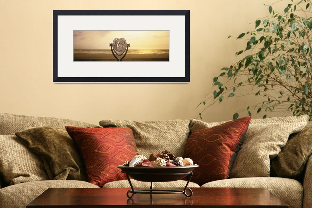 """""""Mechanical Viewer Pacific Ocean California&quot  by Panoramic_Images"""
