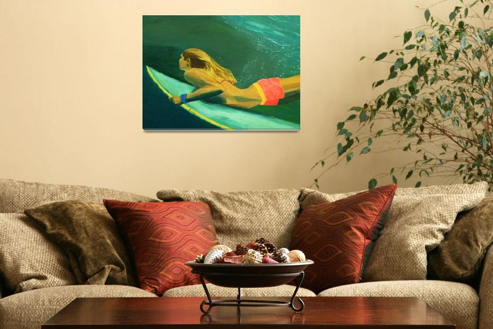 """Surfer Girl Duck Dive""  by momssurftoo"