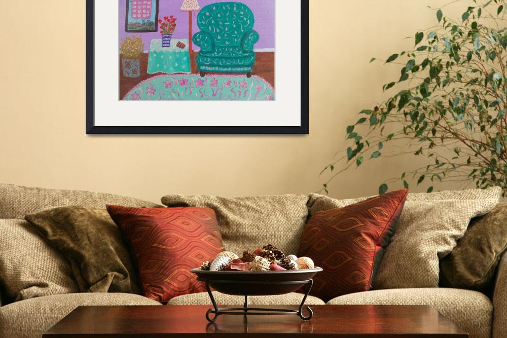 """Cozy Room&quot  (2010) by friddleart"