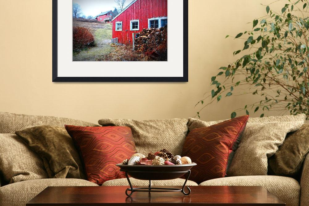 """""""The Red Barn&quot  (2007) by DianaLeePhotoDesigns"""