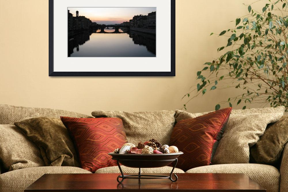 """Sunset on the Arno River&quot  (2009) by BMRamos"