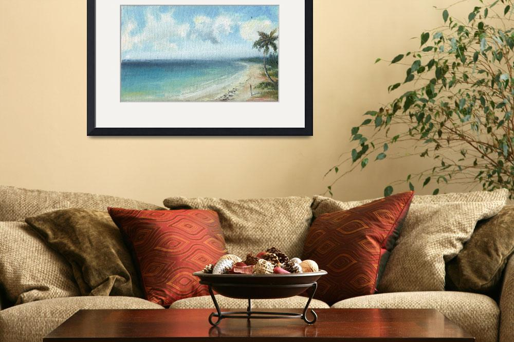 """""""CUBA PALM TREE AND BEACH""""  (2008) by AFROFUSION"""