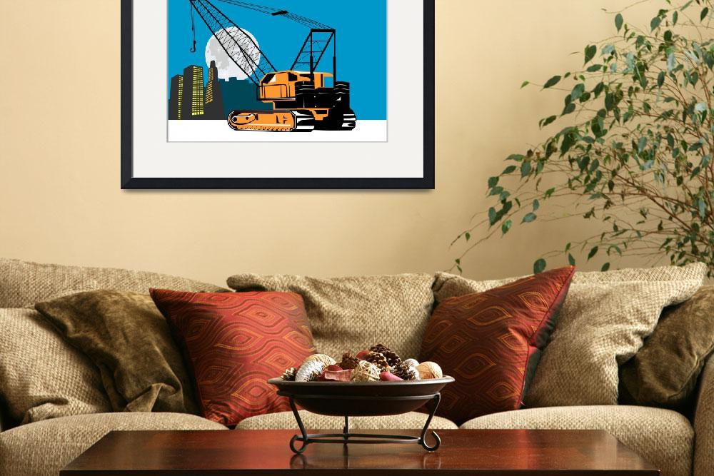 """Construction Crane Hoist Retro&quot  (2012) by patrimonio"