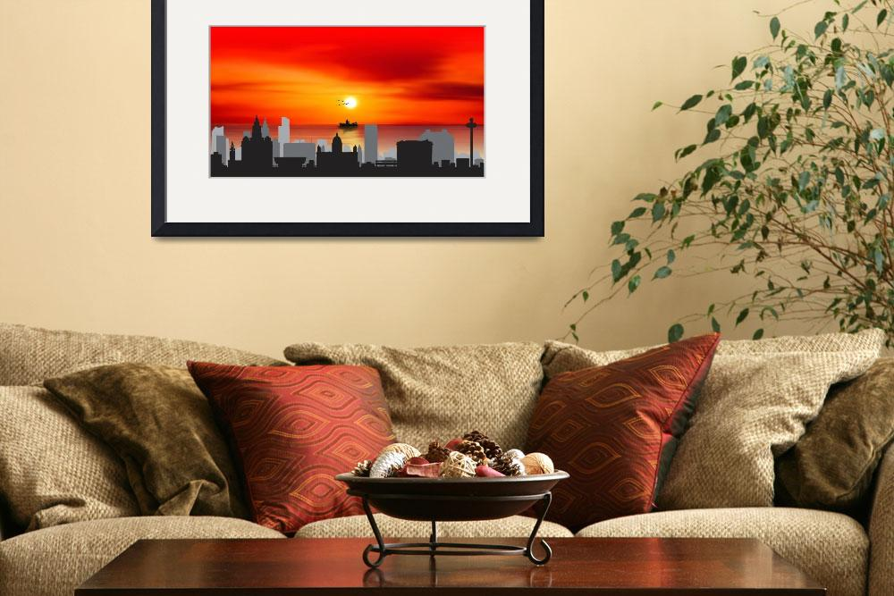 """Liverpool Skyline England Cityscape City&quot  by 123456789123456789123456"