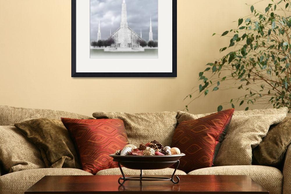 """""""Boise Temple Large-16x20-tinted&quot  by TerrySpringer"""