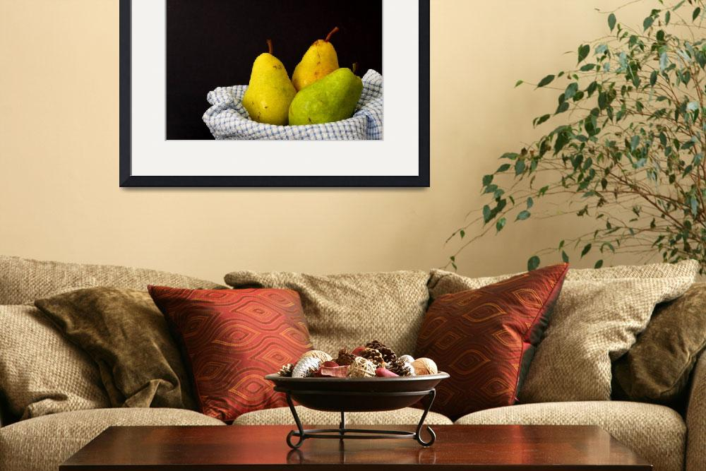 """""""A trio of pears&quot  (2008) by Erica_Marshall"""