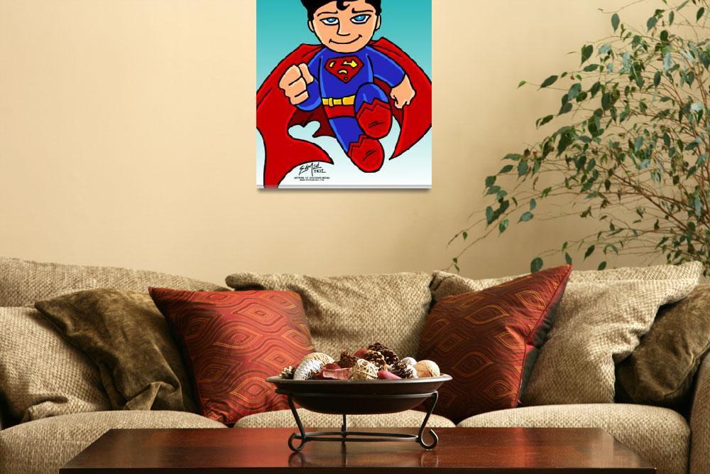 """Superman Chibi&quot  (2012) by EdMedArt"