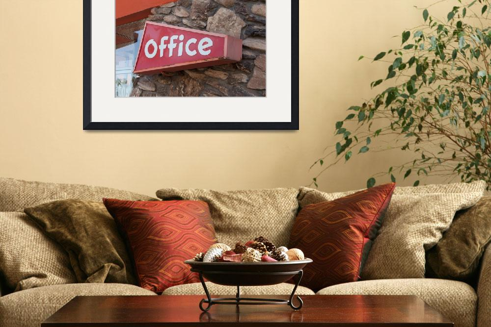 """""""Office Sign&quot  (2013) by midcenturymodern"""