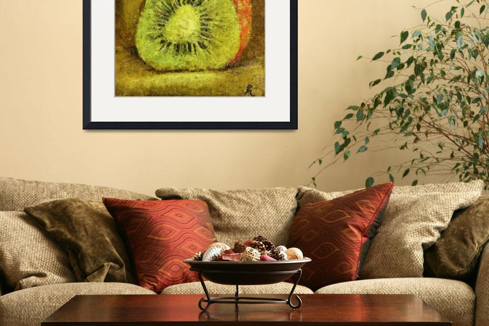 """""""kiwifruit&quot  (2012) by DragicaMickiFortuna"""