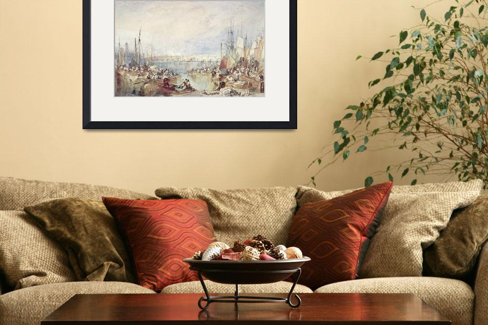 """""""The Port of London by Joseph Turner&quot  by fineartmasters"""