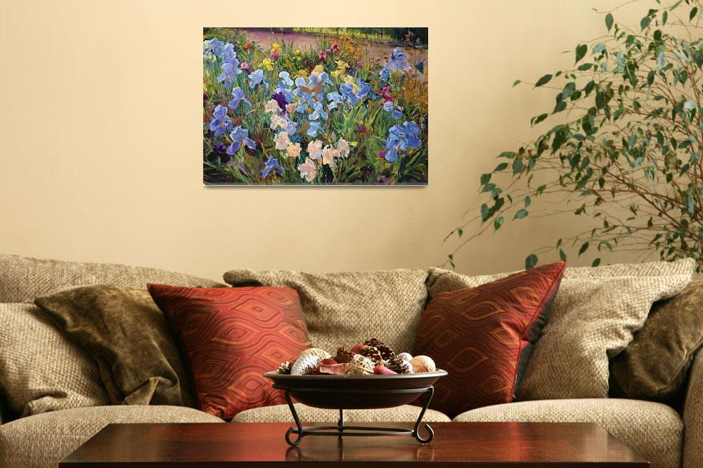 """The Iris Bed by Timothy Easton&quot  by fineartmasters"
