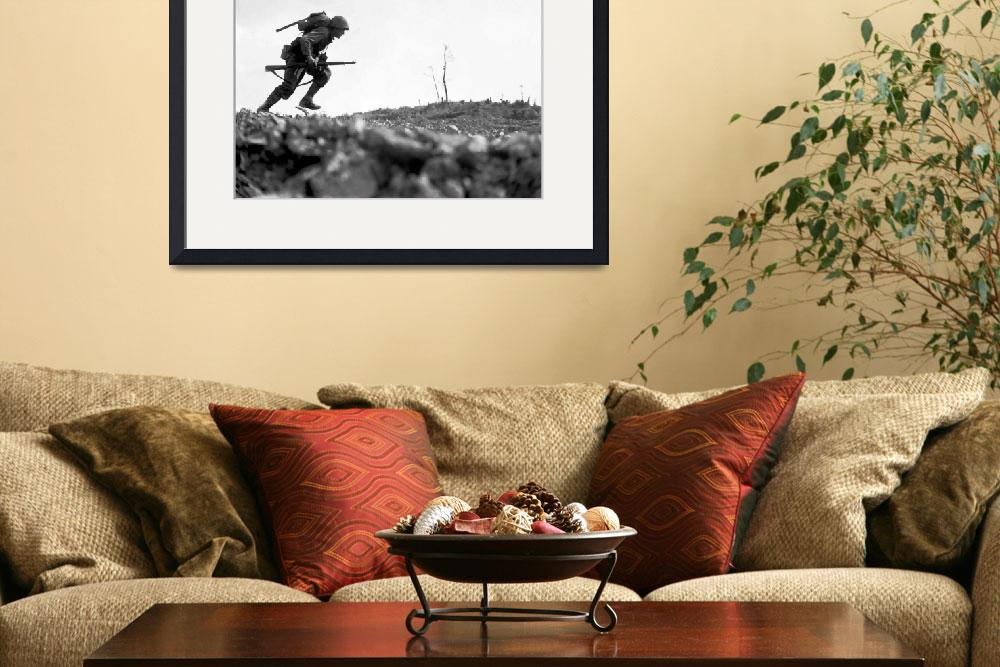 """""""Digitally restored vector photo of a Marine making&quot  by stocktrekimages"""