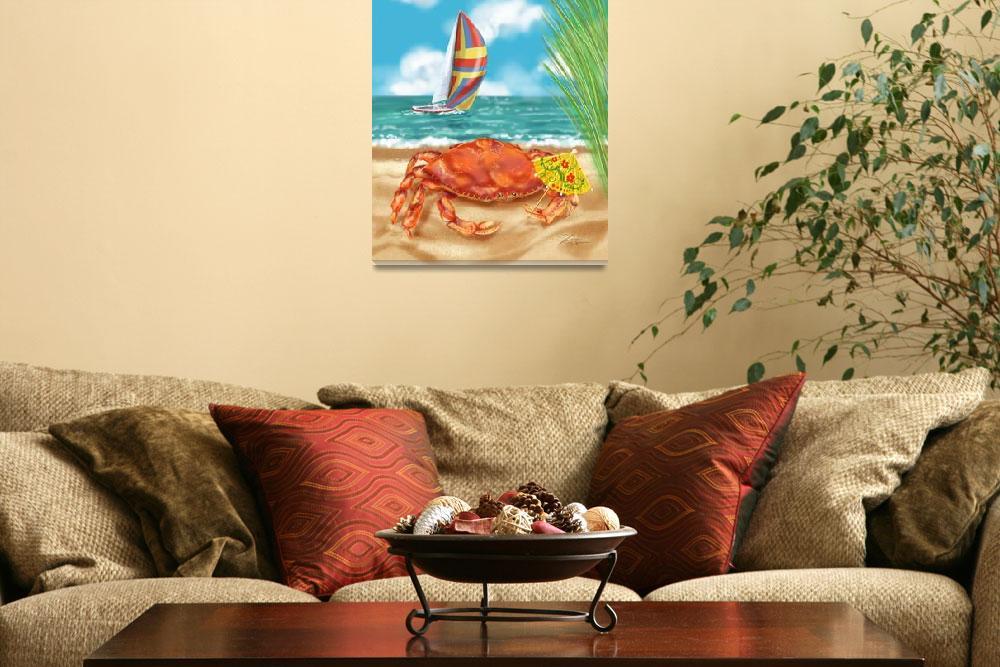 """Crab Beach Fun""  (2007) by shariwarren"
