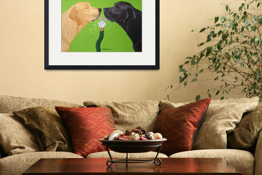 """""""Labs Like To Share 2&quot  (2007) by DogsandFlowers"""