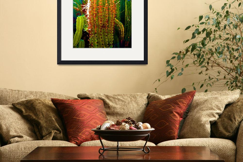 """""""Backlit Cactus&quot  by AmyVangsgard"""
