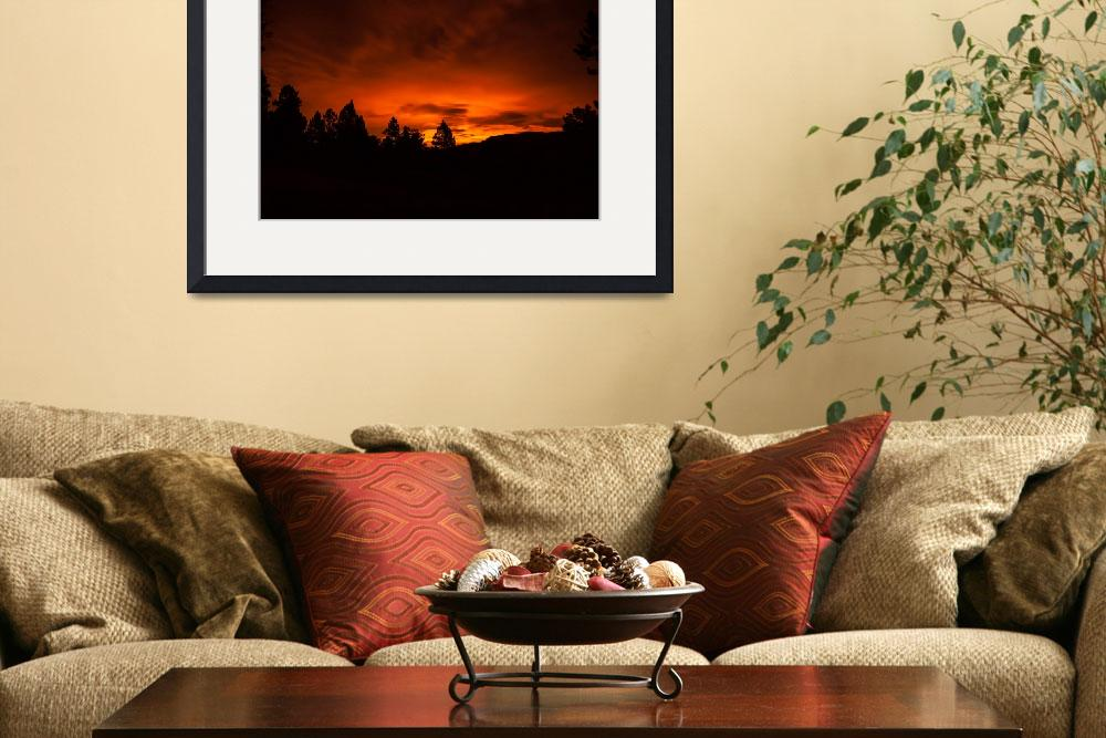 """""""Fiery Glow on the Horizon&quot  (2013) by DanBourque"""