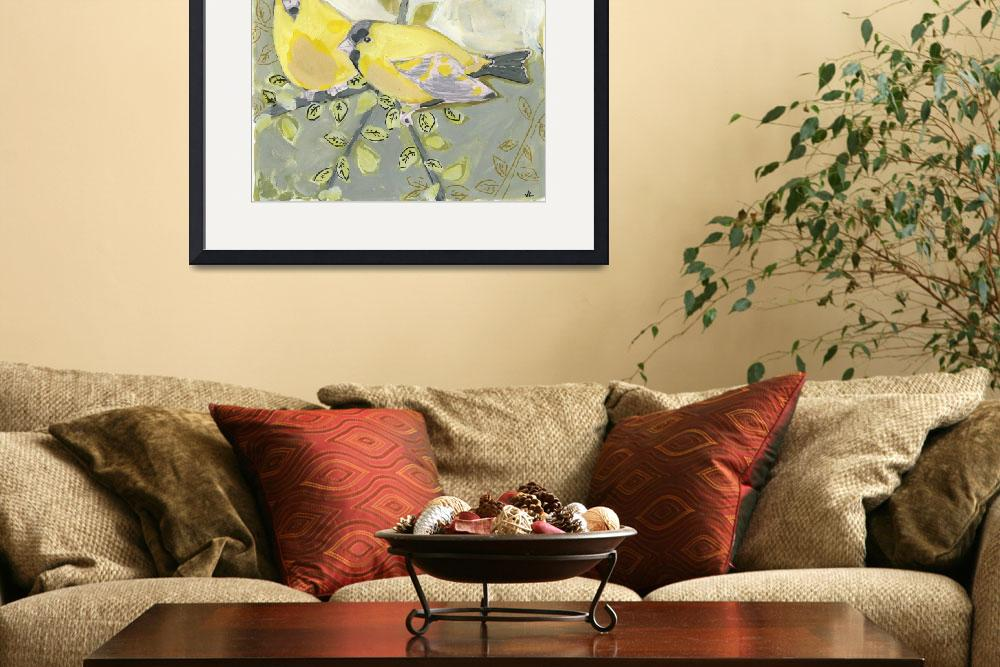 """""""Two Goldfinch&quot  (2008) by JENLO"""