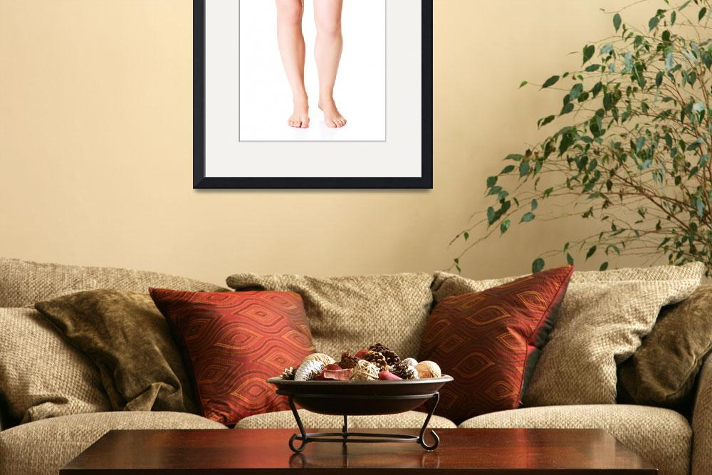 """Sexy fmale legs. Closeup. Isolated on white.&quot  by Piotr_Marcinski"