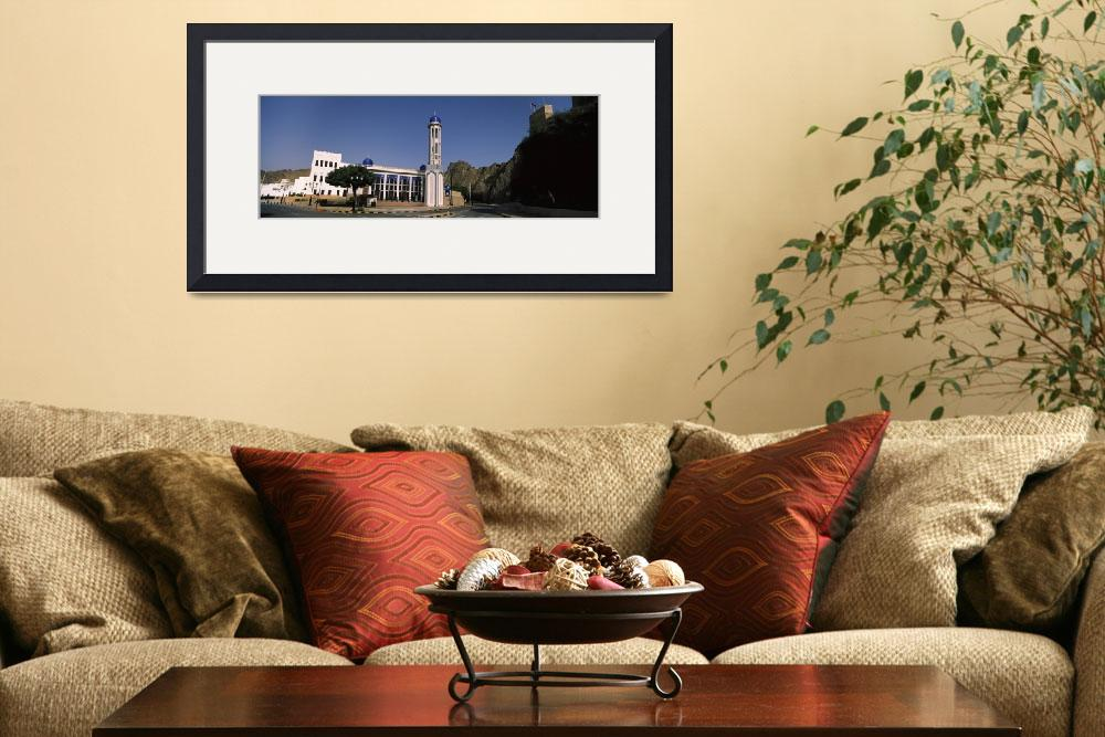 """Building with a minaret near mountain Muscat Oman""  by Panoramic_Images"