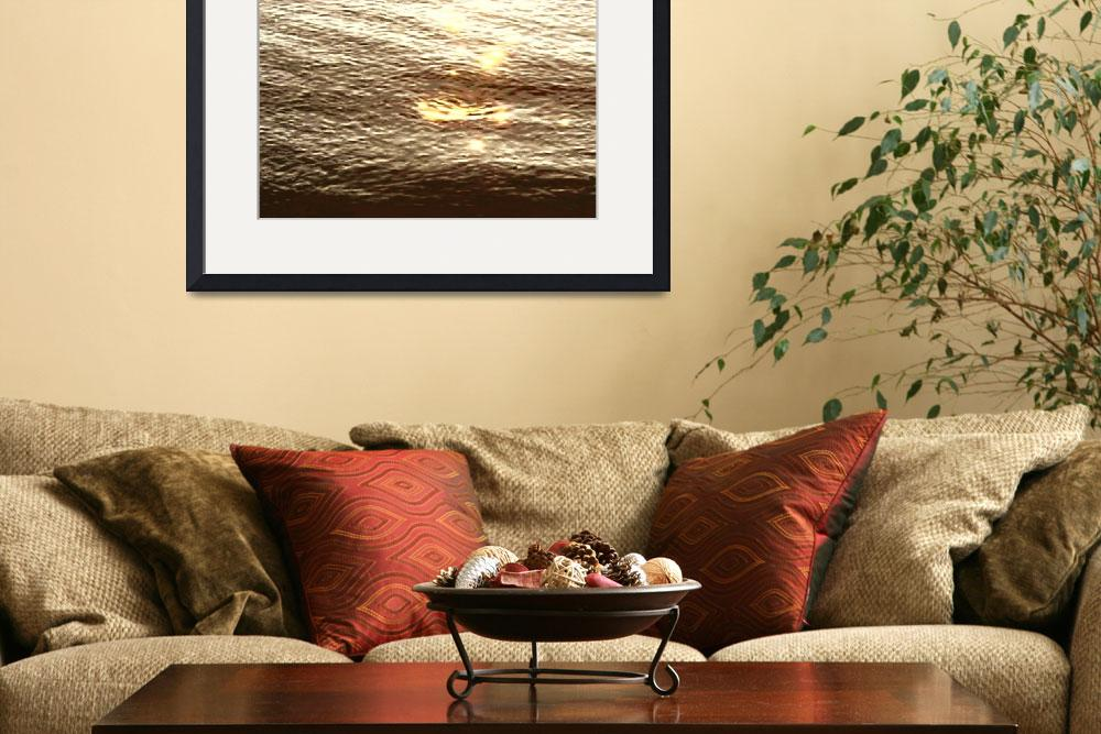 """""""PV Water Sunset Sepia&quot  (2009) by LeslieTillmann"""