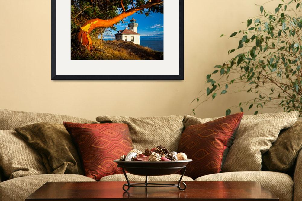 """""""Madrone & Lighthouse&quot  (2011) by Inge-Johnsson"""