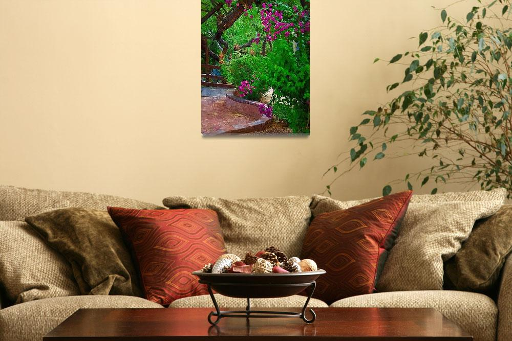 """""""Bougainvillea in the Courtyard&quot  (2014) by Kirtdtisdale"""