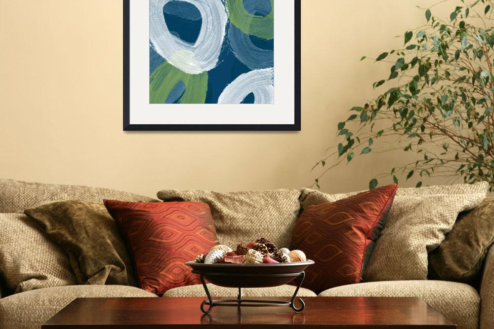 """""""Abstract Blue swhirls I&quot  by rickimountain"""