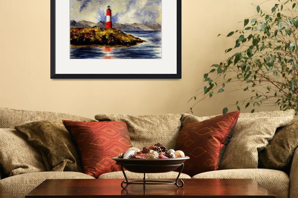 """""""Les Eclaireurs Lighthouse (Ushuaia Argentina)""""  (2007) by vigliotti"""