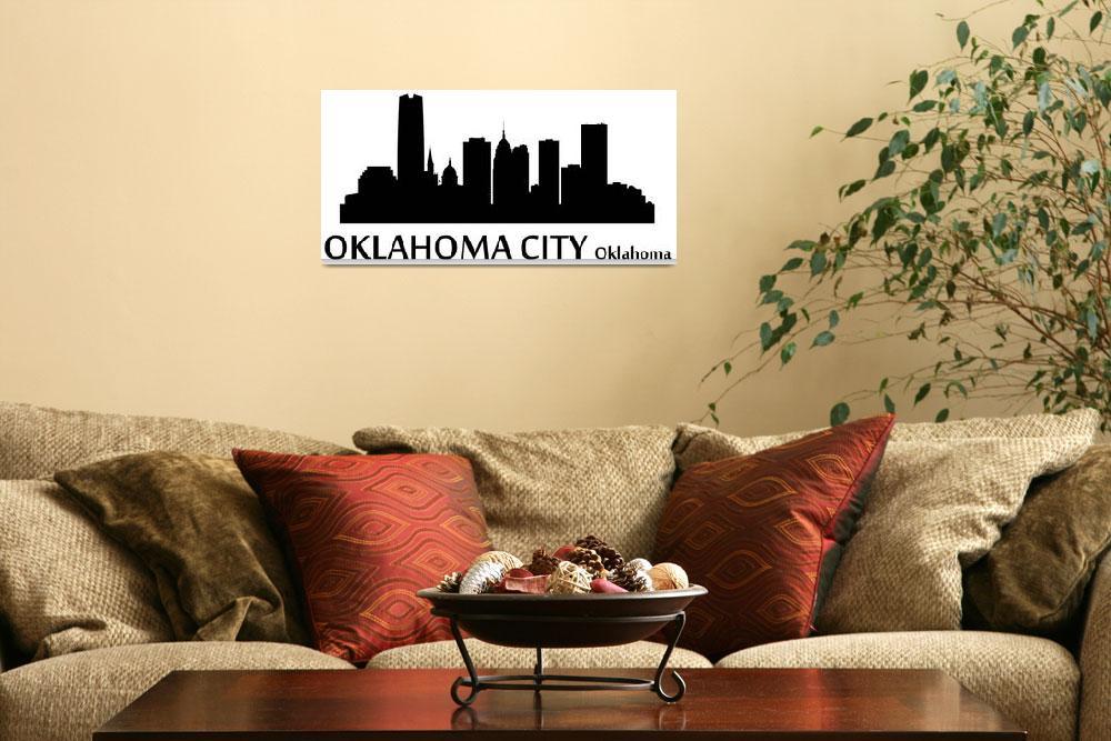"""Oklahoma City Cityscape Skyline""  (2015) by KWGart"