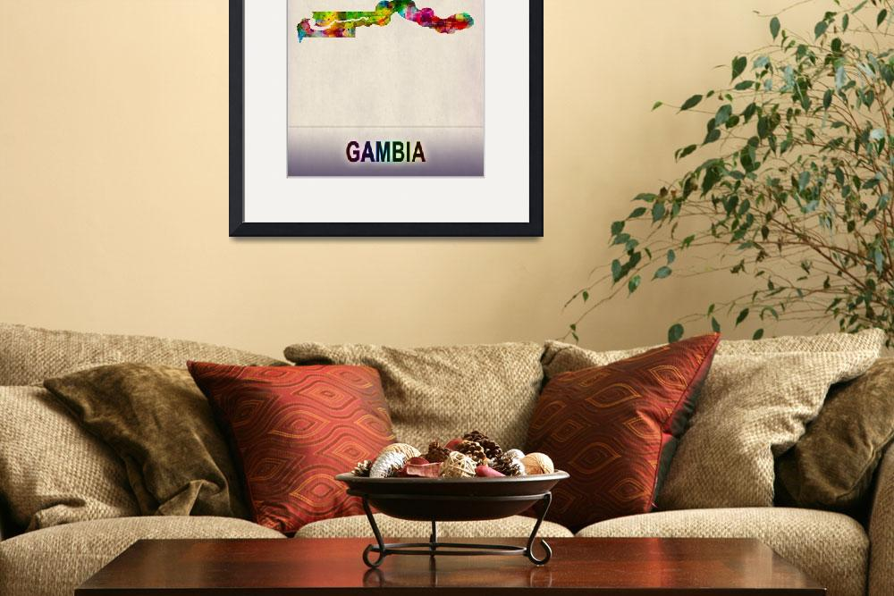 """""""Gambia Map""""  by Towseef"""