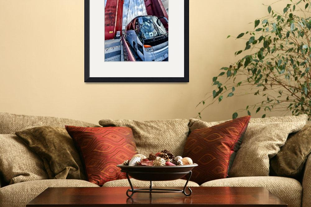 """""""Golden Gate Bridge, Tower and Bus&quot  (2014) by New-Yorkled"""