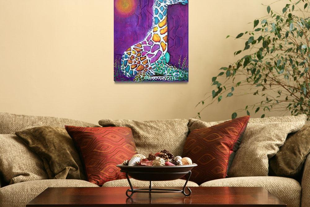 """Giraffe of Many Colors""  (2014) by ArtPrints"