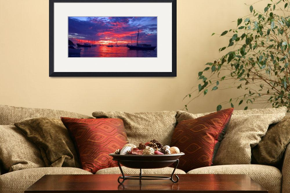 """""""Harbour Sunset""""  (2005) by gregoryscott"""