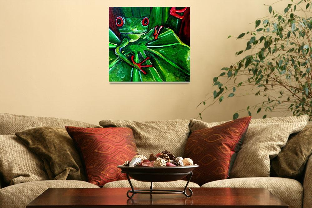 """Curious Tree Frog&quot  (2009) by artbypatti"