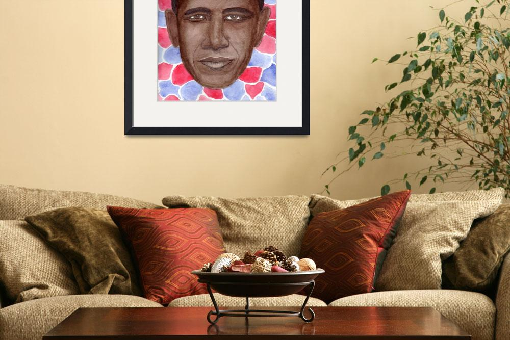 """""""Obama in Red, White, and Blue""""  by Christella"""