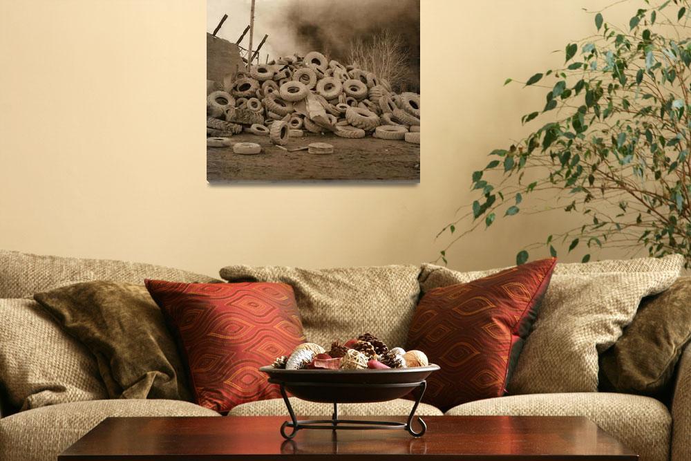 """Fire in a Chicago Tire Factory #2""  (2011) by VirginiaZuelsdorf"