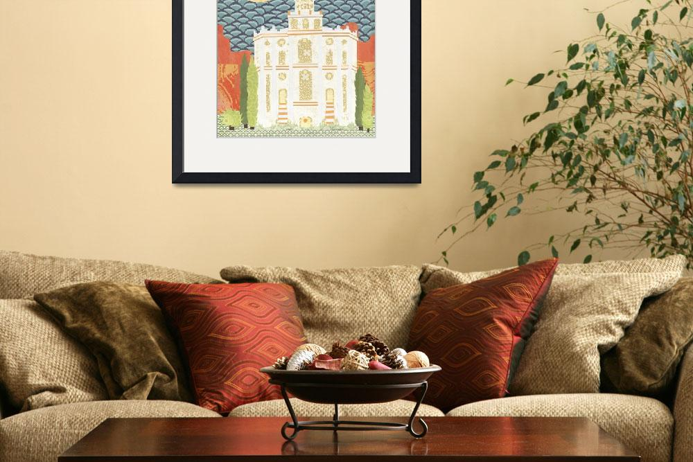 """""""Latter-day Saint St. George Temple""""  (2011) by AZeleskiCollages"""