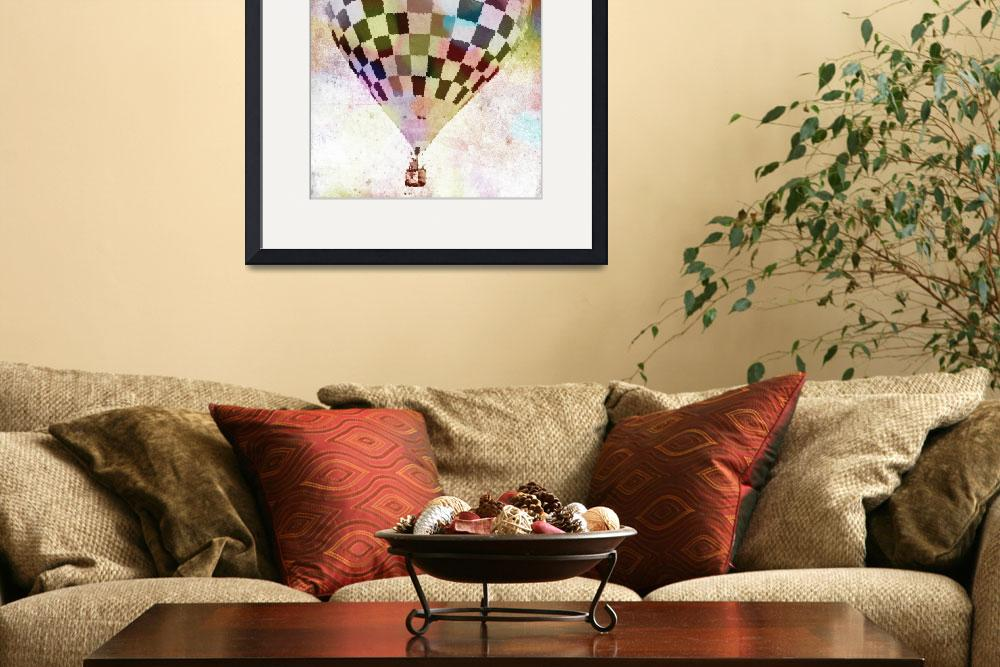 """""""Hot Air Balloon  Checkered 6&quot  (2012) by psovart"""